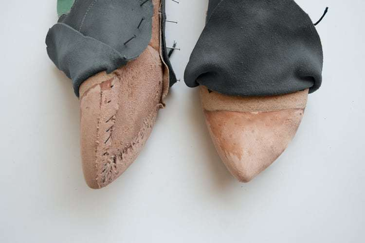 leather counters in custom made shoes