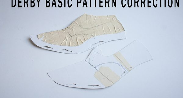 Derby Basic Pattern Correction: Bespoke Derby Handsewn Opanca Shoes Course 15