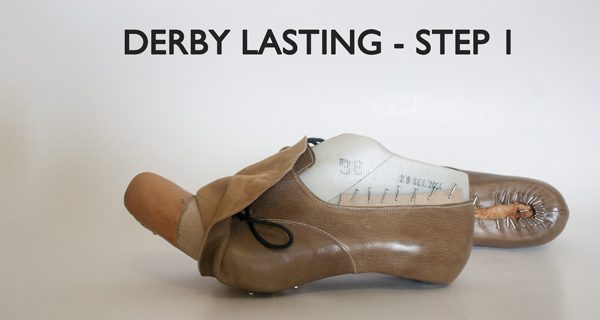 Derby Lasting-Step One. Bespoke Derby Hand sewn Opanka Shoes Course 24