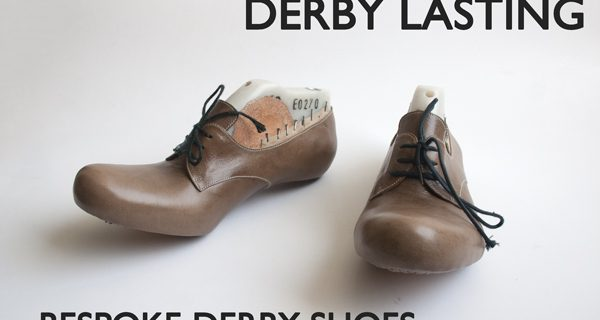 Derby Lasting- Final step: Bespoke Derby Hand sewn Opanca Shoes Course 25