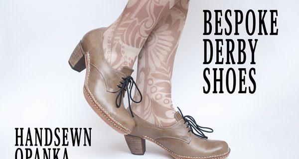 Bespoke Derby Shoes: Bespoke Derby Hand sewn Opanka Shoes Course 29