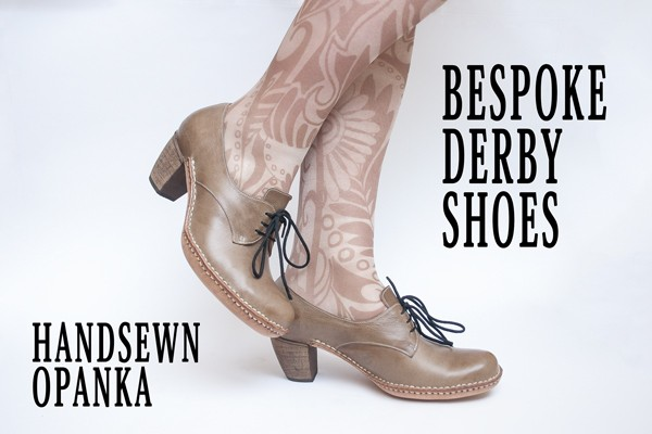 Bespoke derby shoes made by hand