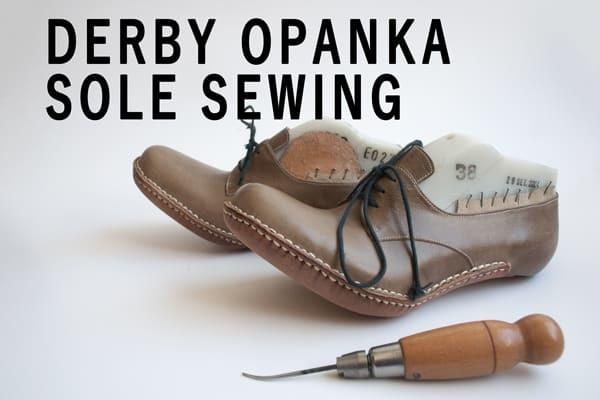 Derby-Opanca-sole-sewing