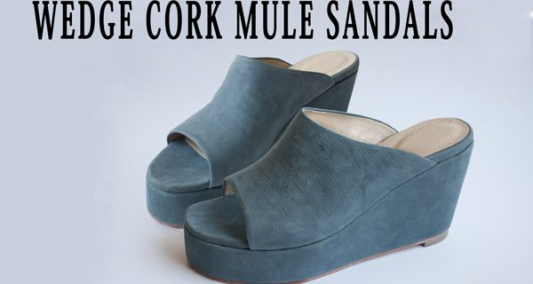 Wedge Cork Mule Sandals : Wedge Cork Mule Sandals Course 26