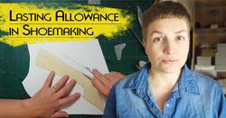 Sveta Kletina drawing shoe making pattern for lasting allowance