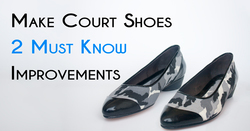 Ballet shoes from fabric- make court shoes