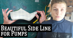 Shoe-Pattern-Making-Tutorial-Draw-Beautiful-Side-Line-for-Pump-Shoes