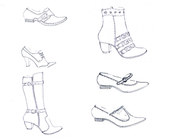 design of footwear for pattern making