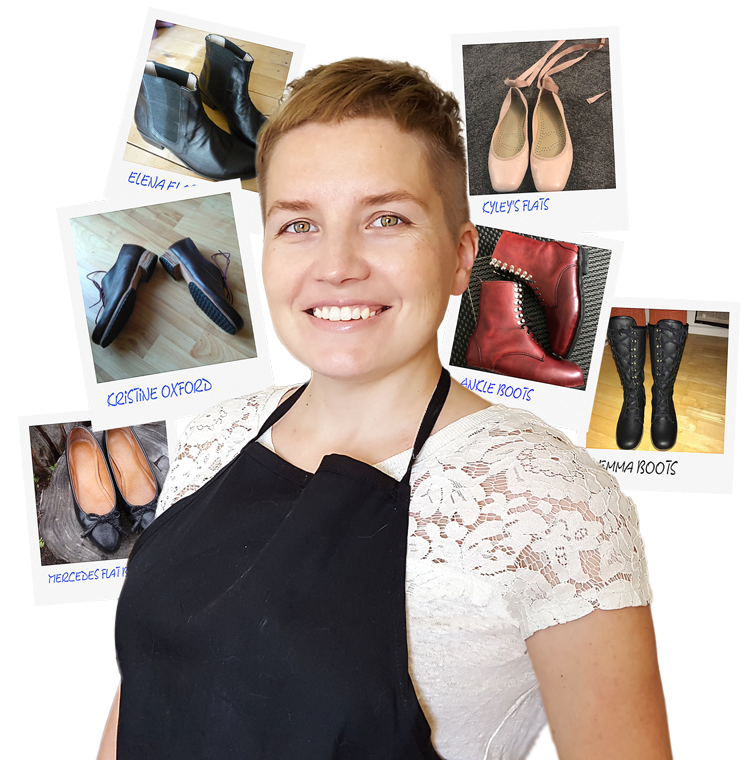sveta kletina and shoemaking students shoes