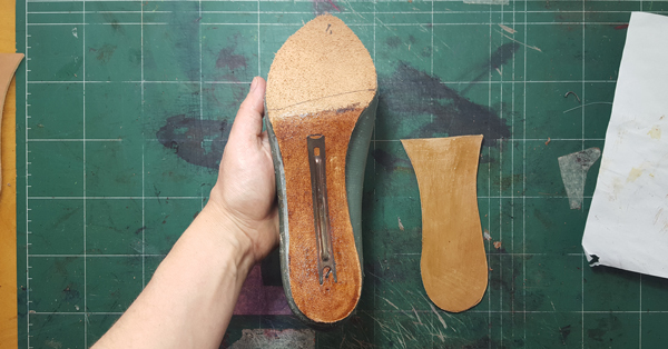 insole in the process of making