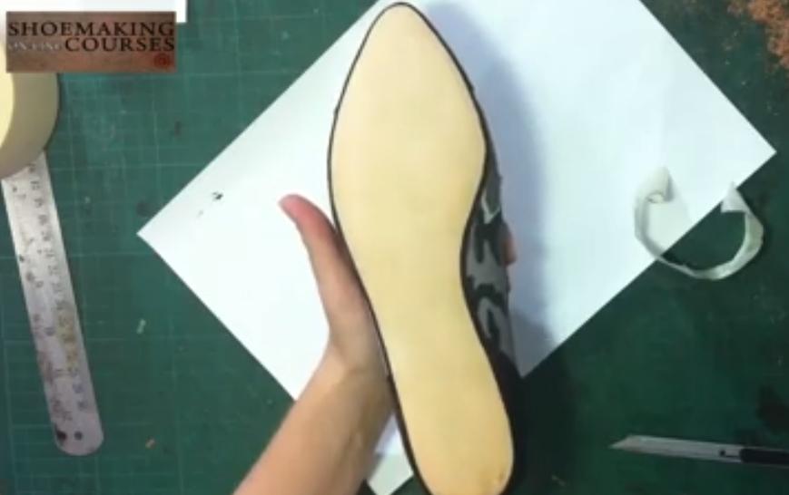 shoe sole with finishing