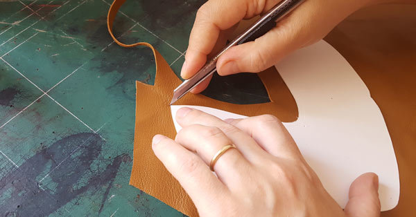 cut leather for shoe upper