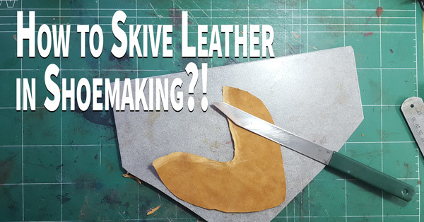 Shoemaker knife and leather for shoes
