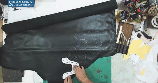 Master-shoemaker-leather-cutting