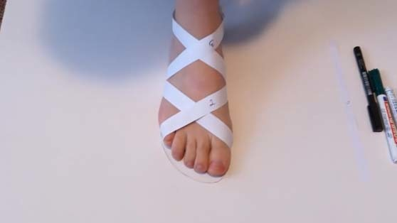 designing the sandals right away on the foot