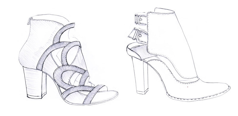 sketching shoes