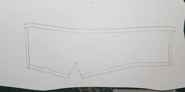 how to make shoe pattern to reinforce shoe upper