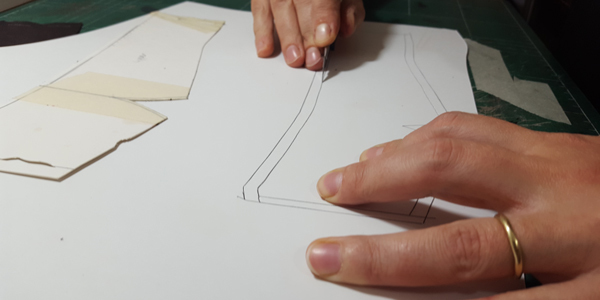pattern making of the reinforcement for the shoe upper