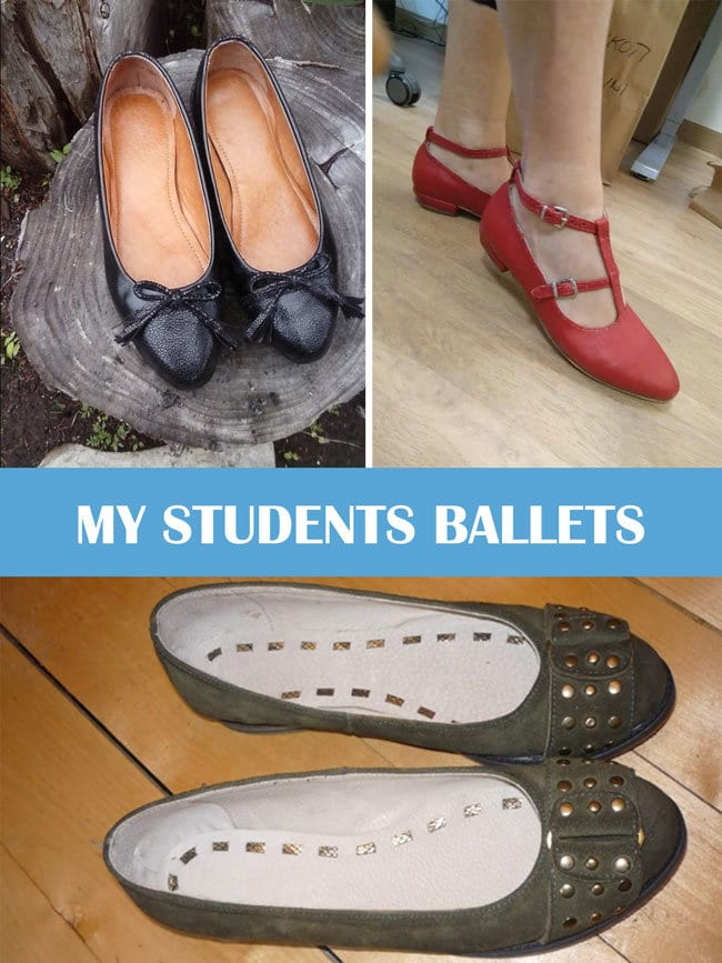 students ballets shoes
