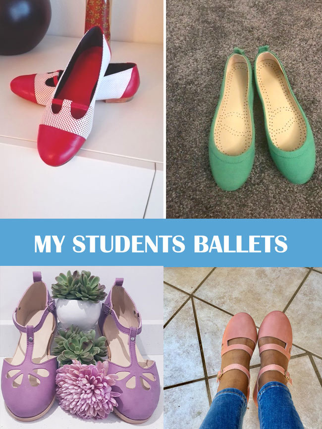 Flat ballets shoes my student made
