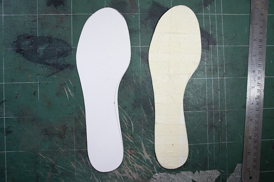 sockliner pattern and insole pattern