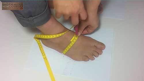taking feet measurements